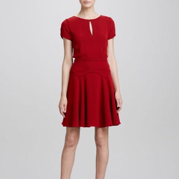 aaf88d039ad Diane von Furstenberg Raizel Keyhole Red Dress